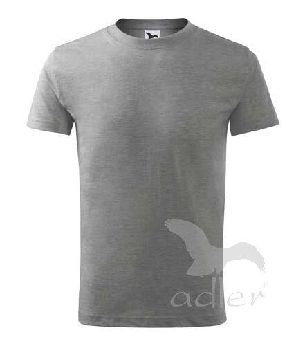 Adler detské tričko s krátkym rukávom Classic New V135 tmavosivý melír 3fed458433