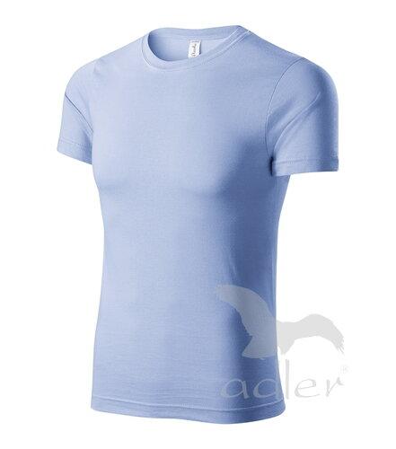 b75003831218 Pánske modré tričko s krátkym rukávom jednofarebné Adler Piccolio ...