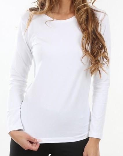 2eddfdeba563 Evona dámske tričko s dlhým rukávom Serena biele
