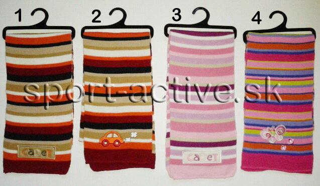 f82e749b66a Detský zimná pletený šál Pidilidi pruhovaný