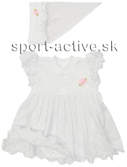 88ad9fa91e87 Dievčenské šaty   šatové body so šatkou Richelieu 1031