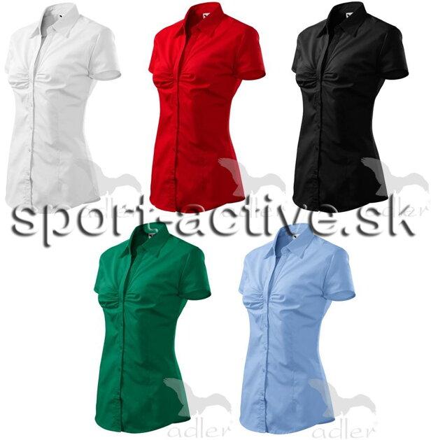 7c3dd8505fab Dámska košeľa - blúzka s krátkym rukávom a riasením na prsiach Chic Adler