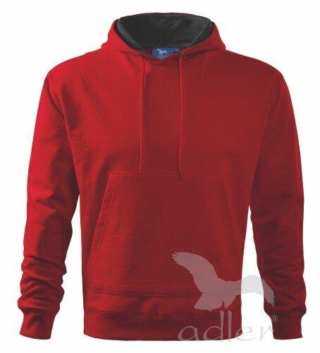 604e9f2f25d Adler pánska mikina s kapucňou Hooded Sweater V405 červená
