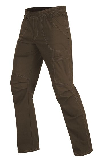 a42e21a6a3e5 Pánske dlhé nohavice v páse na gumu a šnúrku na stiahnutie Litex ...