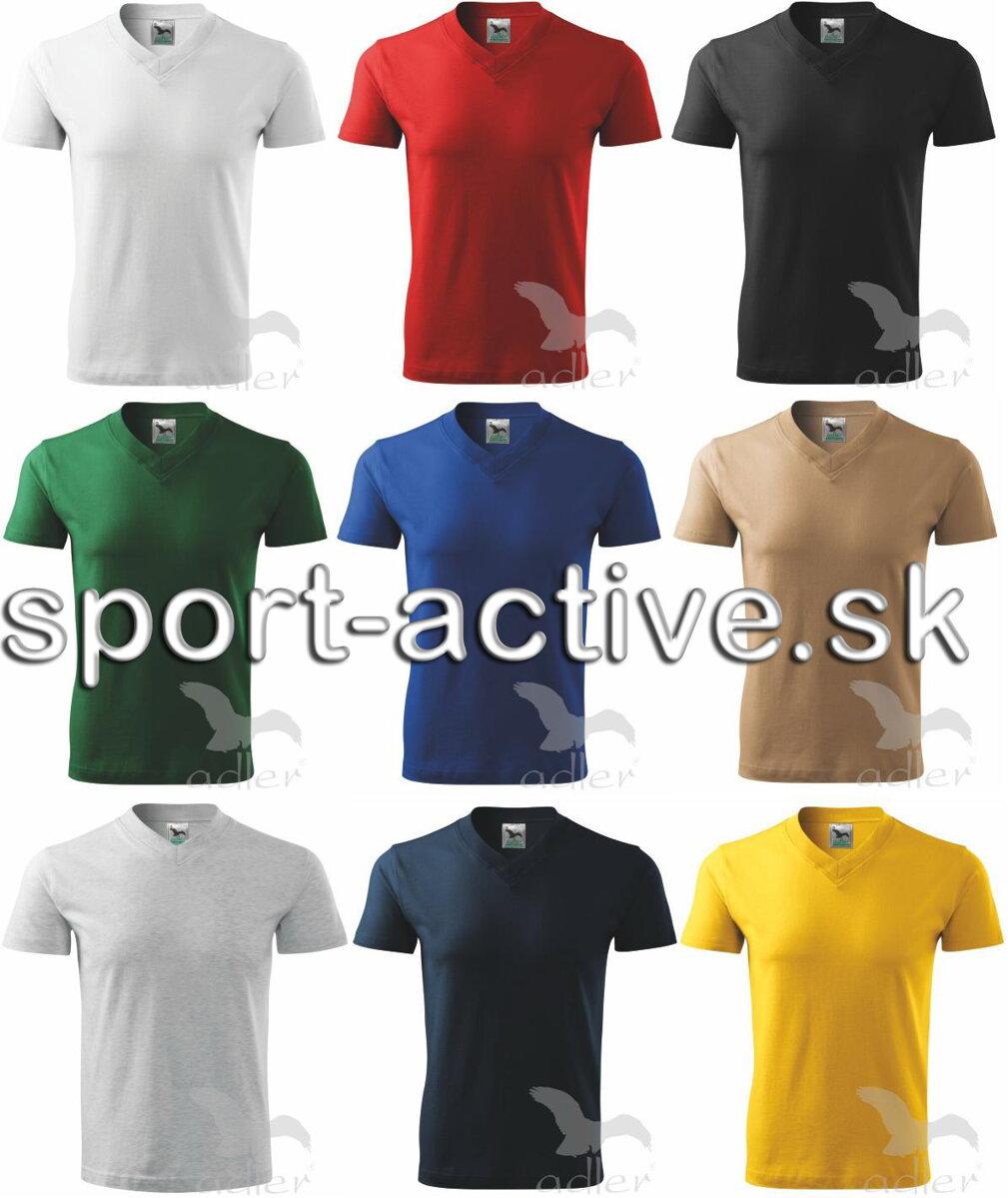 7d6c1e00501c Adler pánske tričko s krátkym rukávom V - neck 102