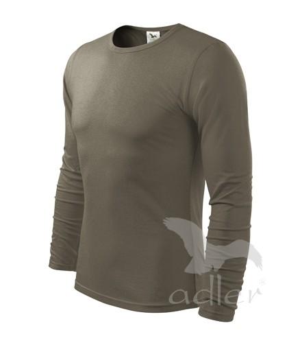 3c12dd2e8 Pánske tričko s dlhým rukávom Adler, bavlnené, jednofarebné, úpletové