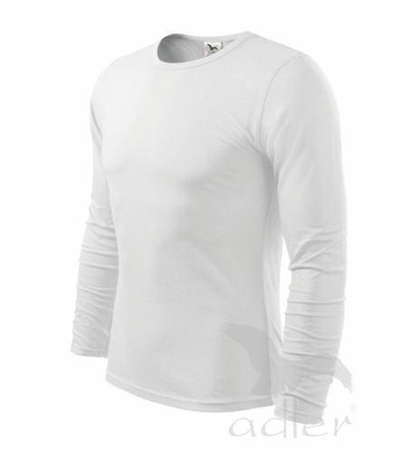 6815335cb1 pánske biele tričko s dlhým rukávom Adler