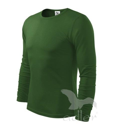 530f46c7d1c07 fľaškovo zelené tričko pánske modré tričko s dlhým rukávom Adler,  jednofarebné, úpletové kráľovské modré tričko pánske sivé ...