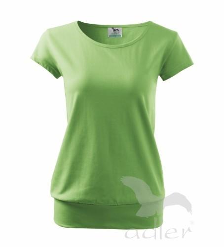 7b04a8cd2622 čierne tričko dámske tričko Adler na potlač s krátkym rukávom - CITY