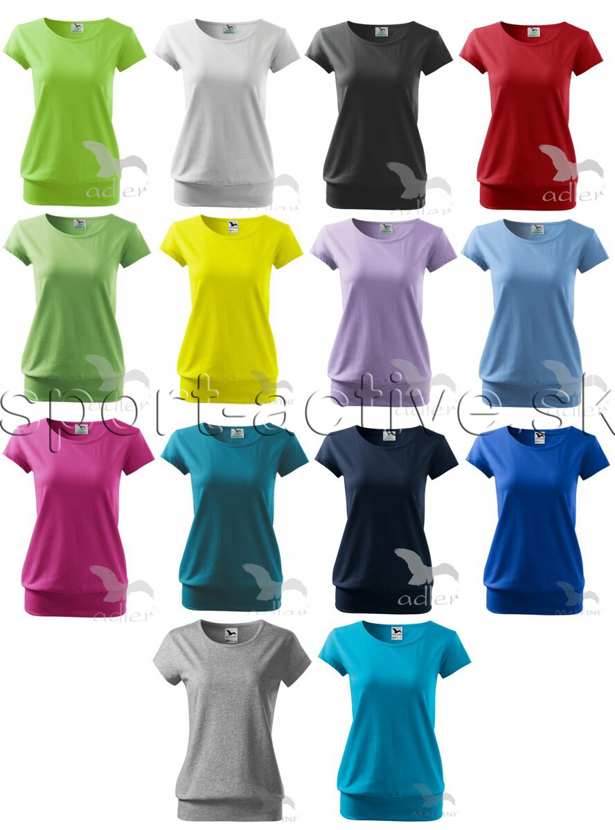 cac3244c4 Dámske tričko s krátym rukávom CITY, Adler, bavlnené, s lemom na ...