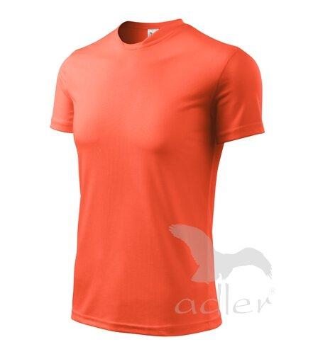 6595b46bfe49 kráľovské modré tričko detské neónové oranžové tričko s krátkym rukávom  Adler Fantasy 124