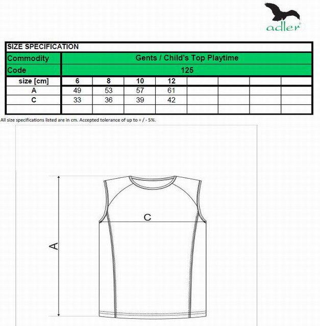 fb4794e0f Detské tričko bez rukávov, detský top, Adler playtime 125, na šport ...