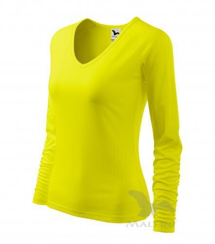 fb042efdac85 tričko apple green citrónové dámske tričko Elegance 127 Malfini s V  výstrihom