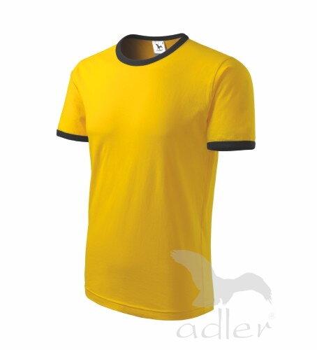 8d47da05c8c6 tričko INFINITY zo zadu pánske žlté tričko s krátkym rukávom Adler Infinity  131 s čiernym lemom