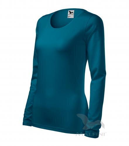 a4a4d056b9da mätové tričko petrolejové dámske tričko Slim 139 Adler s dlhým rukávom
