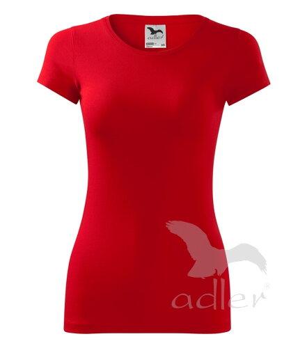 f2f4bc3dc1a2 biele tričko červené dámske tričko s krátkym rukávom Glance Adler 141  jednofarebné