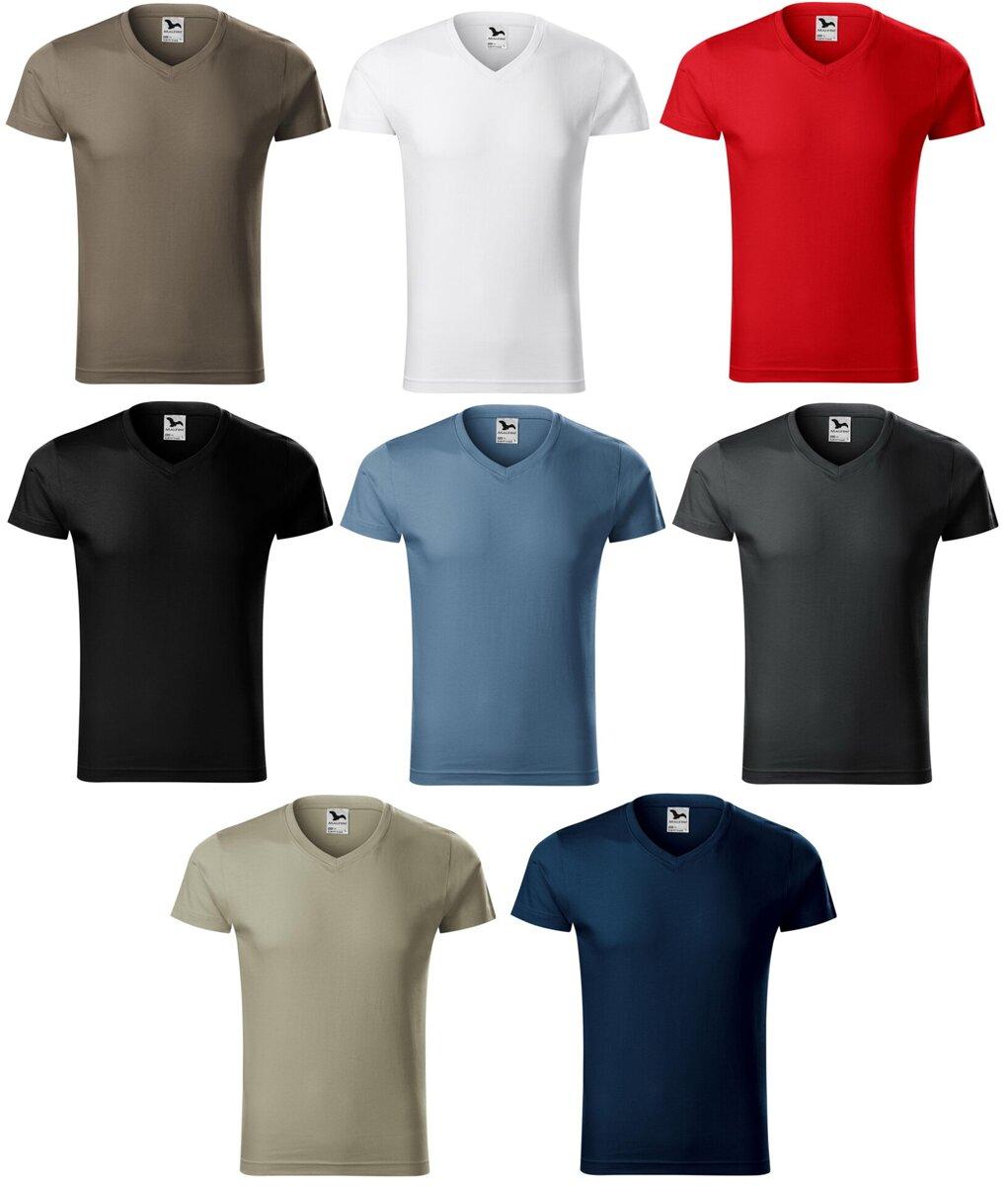 019e4454add34 Pánske obtiahnuté - priliehavé tričko s krátkym rukávom Slim Fit ...
