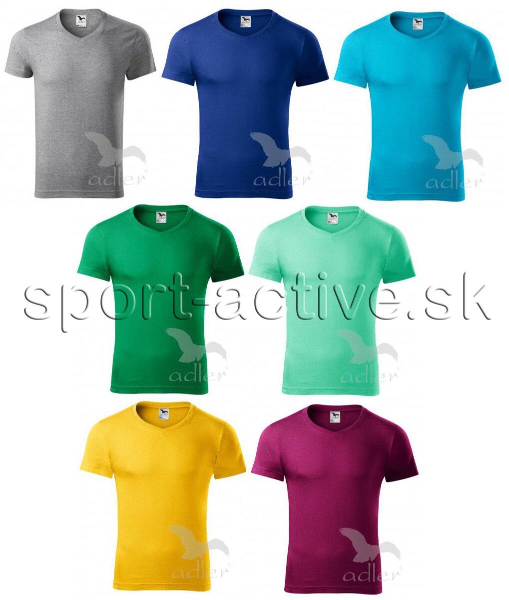 e5090b7ed087 Adler pánske tričko s krátkym rukávom SLIM FIT 146-1