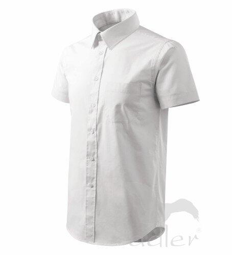 fdc00bdaa716 pánska biela košeľa Adler 207 s krátky rukávom biela košeľa ...