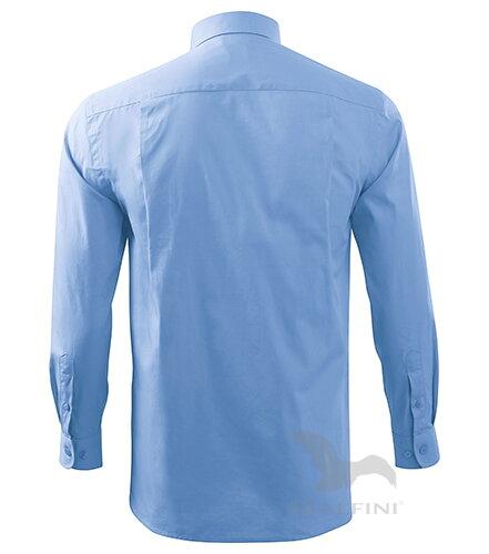 b89c293135a7 nebesky modrá košeľa pánska košeľa s dlhým rukávom Style LS 209 Malfini zo  zadu