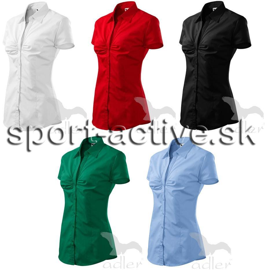 5d062ddc548a Dámska košeľa - blúzka s krátkym rukávom a riasením na prsiach Chic ...