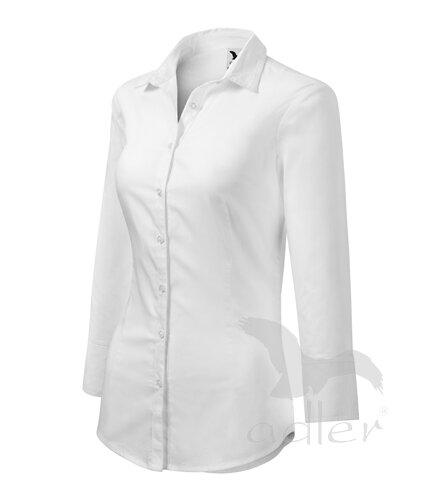 01ee4866d79b veľkostná tabuľka pre blúzku Style 218 dámska biela blúzka - košeľa Adler  Style 218 s 3 4 rukávom