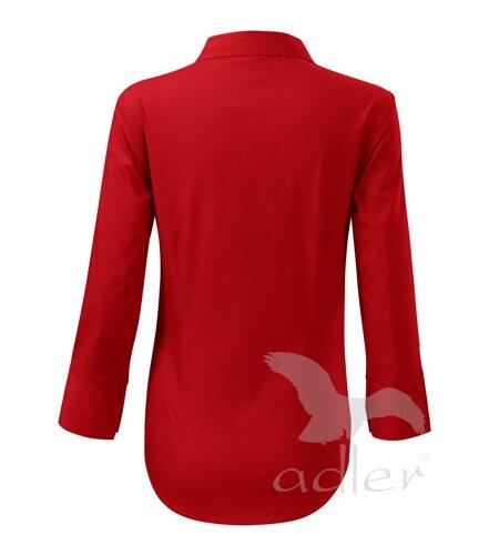d07dee29894b červená blúzka - košeľa červená dámska blúzka - košeľa Adler Style 218 s 3 4  rukávom zo zadu