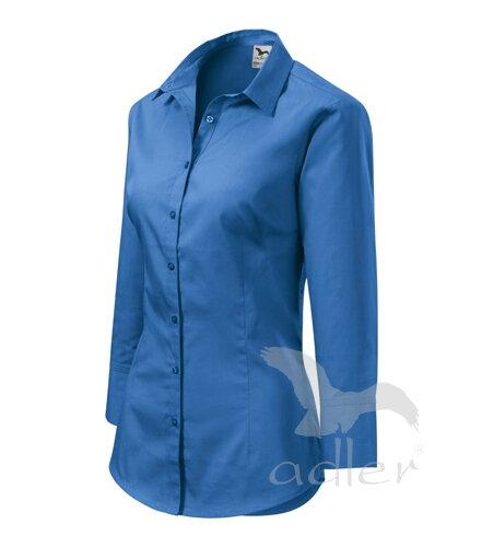 a1a870b5a733 čierna blúzka - košeľa dámska svetlomodrá blúzka - košeľa Adler Style 218 s  3 4 rukávom bavlnená