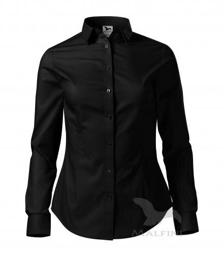 710e24f0050a ... čierna dámska košeľa Style LS 229 Malfini s dlhým rukávom