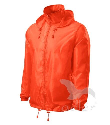 kráľovská modrá bunda pánska neónová oranžová vetruodolná bunda Adler Windy  524 s kapucňou 91644971bbe
