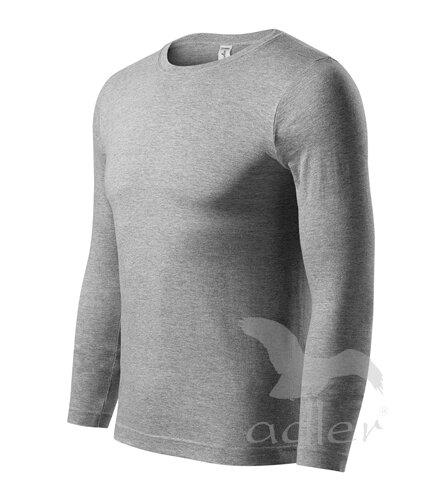 d31cb5e65 tmavomodré tričko pánske tričko - tmavosivý melír Adler Progress P75 s dlhým  rukávom