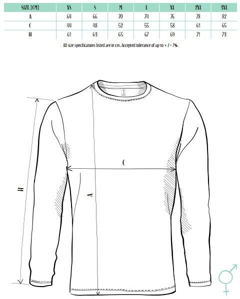 7f84a49ae Pánske jednofarebné tričko s dlhým rukávom Adler Progress P75, bavlnené