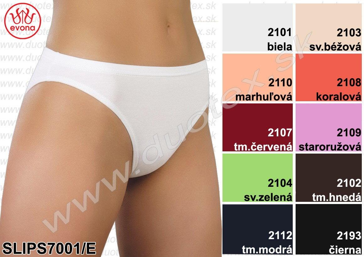 e990f887e Dámske bavlnené elastické nohavičky Evona 7001, farebné ...