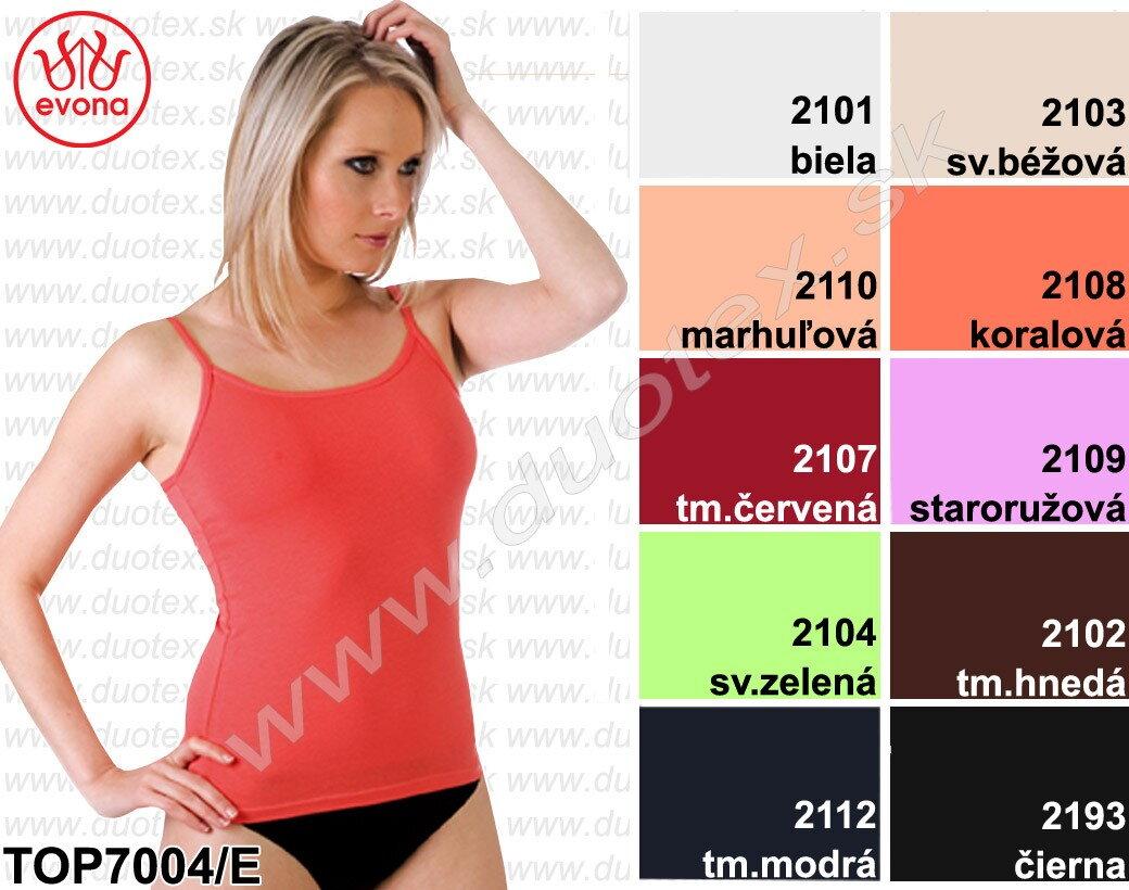 1424c96b489c Dámske farebné tielko Evona s tenkými ramienkami
