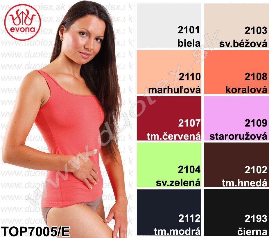 e5091295a5fd Dámske farebné elastické tielko Evona so širokými ramienkami ...