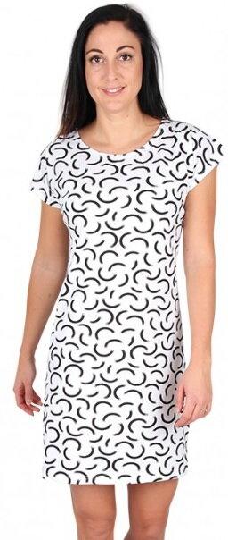 dd3514419f ... dámske šaty s krátkym rukávom Tempesta Evona farba 2 - bielo - čierne