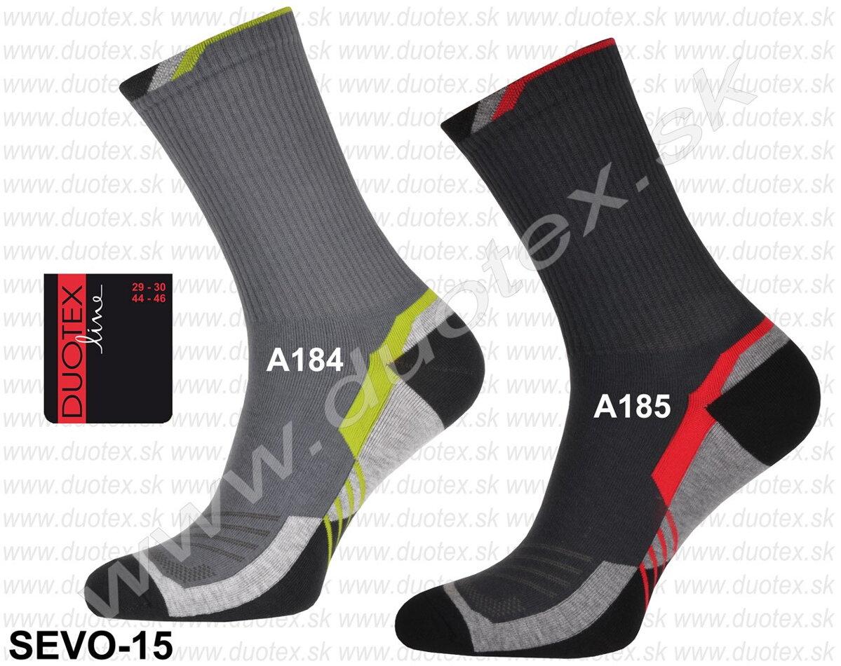 9f069b69c Športové pánske ponožky Sevo-15 Duotex, bavlnené, tmavé, sivé