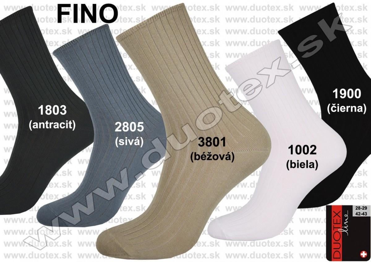 Pánske zdravotné ponožky bez gumičky Fino Duotex 28ed523e66