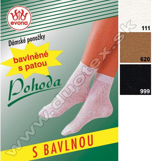 069e7e76dcea Dámske tenké silonové ponožky s bavlnou Evona Pohoda