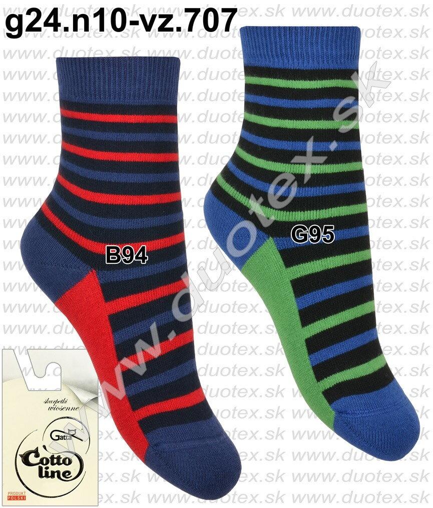 44f75ff639e Gatta detské froté ponožky so vzorom g24.n10-vz.707