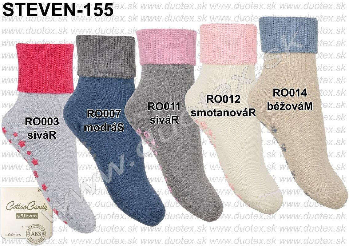 Detské froté ponožky protišmykové s ABS Steven 155 af8c19ec35