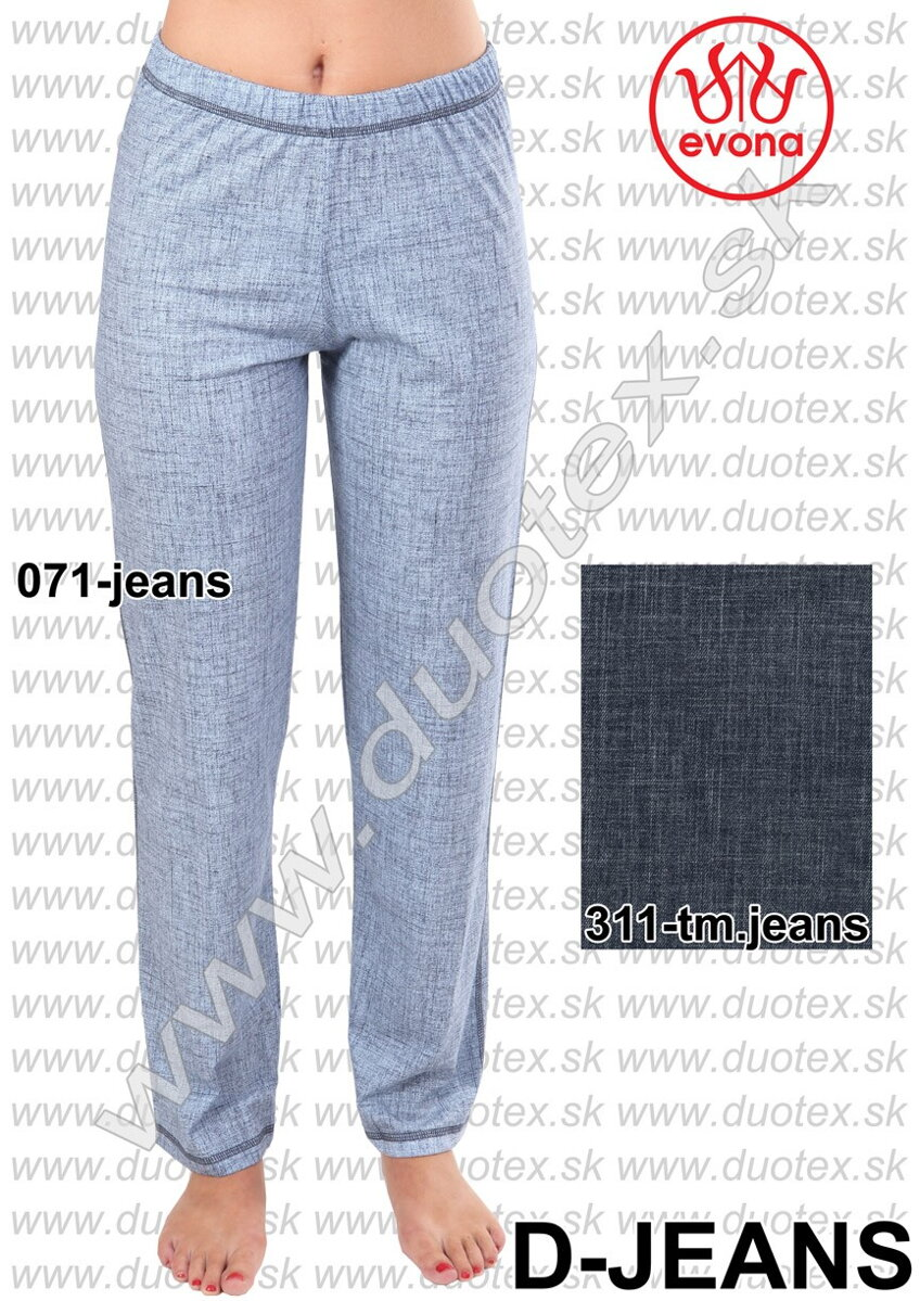 ab795bf17761 Dámske jeansové pyžamové nohavice Evona