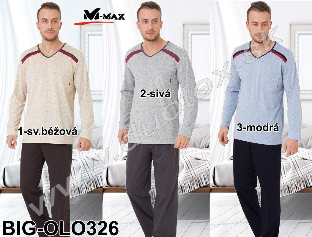 f9d6ccb8d6ca Pánske pyžamo v nadmernej veľkosti M-Max Big-olo326 bavlnené