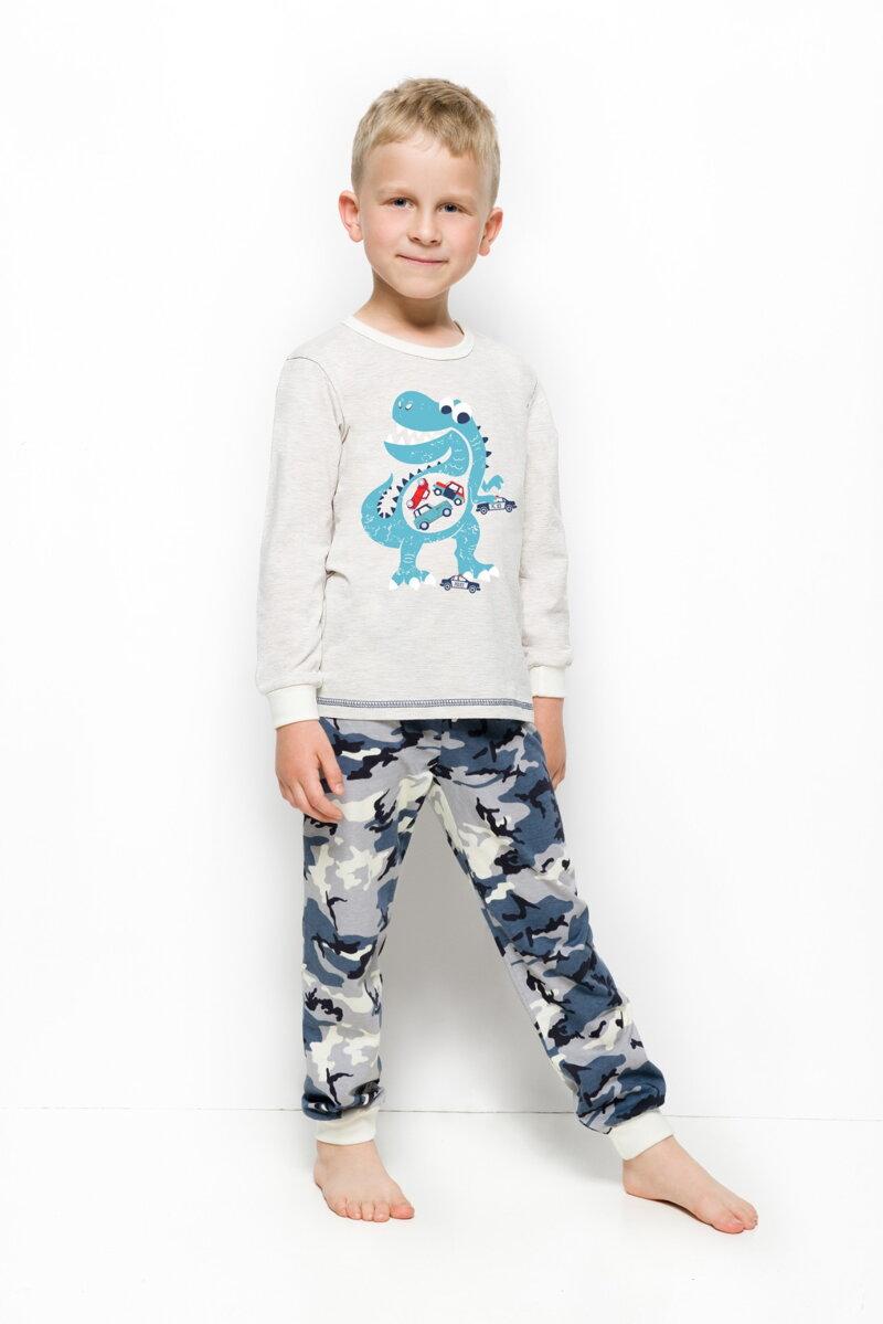 e7a284434946 Taro chlapčenské pyžamo s dlhým rukávom Milosz856 béžové