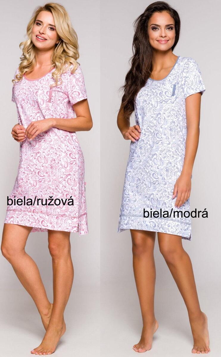 526ea63ae08a Bavlnená dámska nočná košeľa s krátkym rukávom Mela2278 Taro so ...
