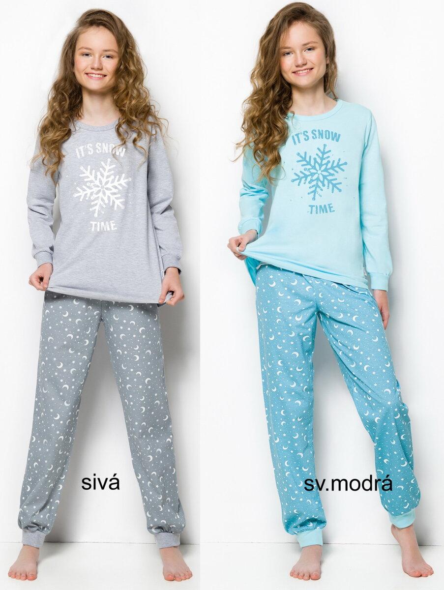 104e8fa7a6e8 Taro dievčenské pyžamo Nora2250 s dlhým rukávom a patentom na ...