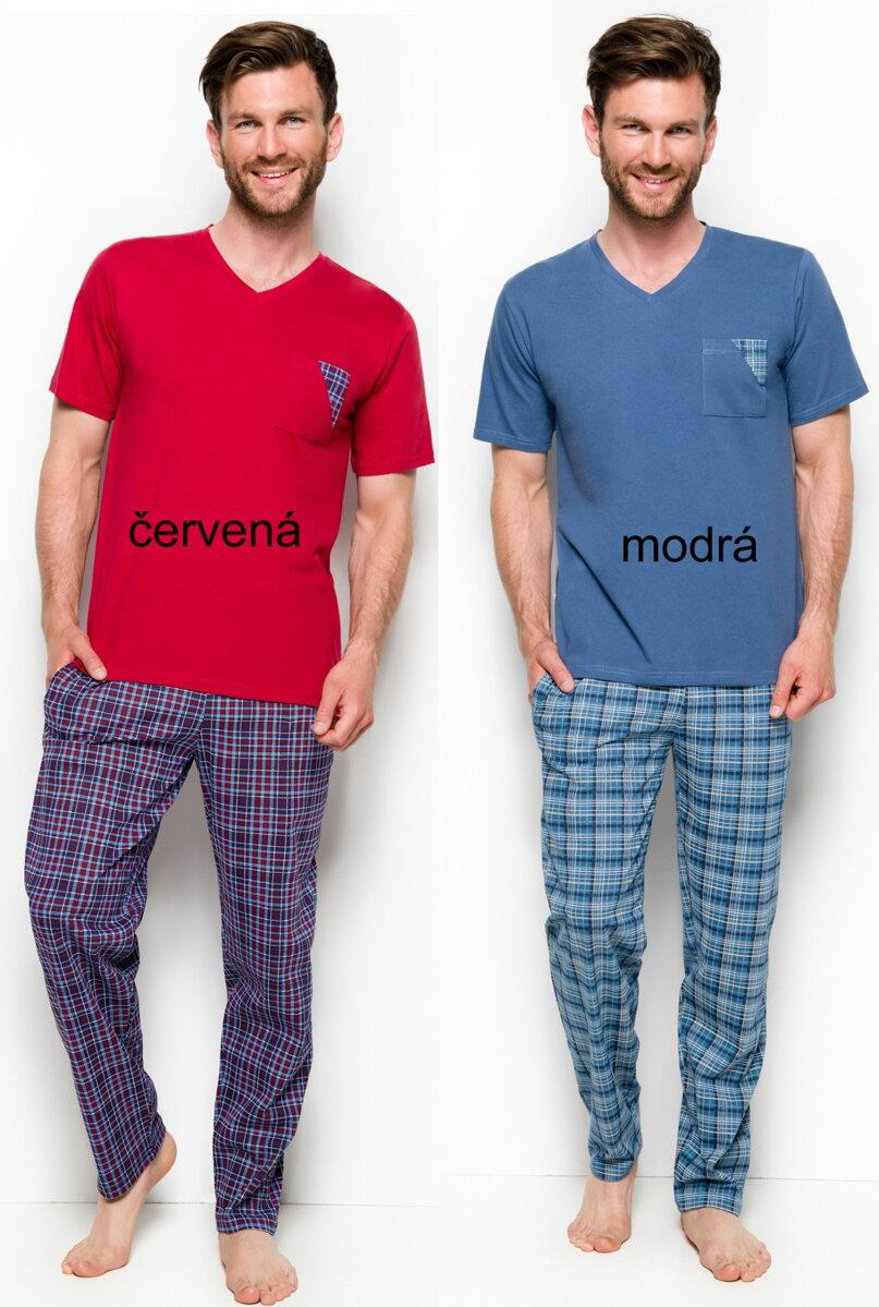 4119ae3f2106 Taro pánske pyžamo s krátkym rukávom a dlhými nohavicami Tymon2263
