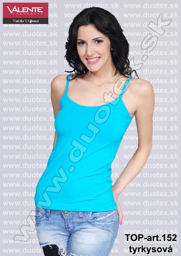089cae96e0eb Dámske tyrkysové tielko - tričko s tenkými ramienkami Valente art ...