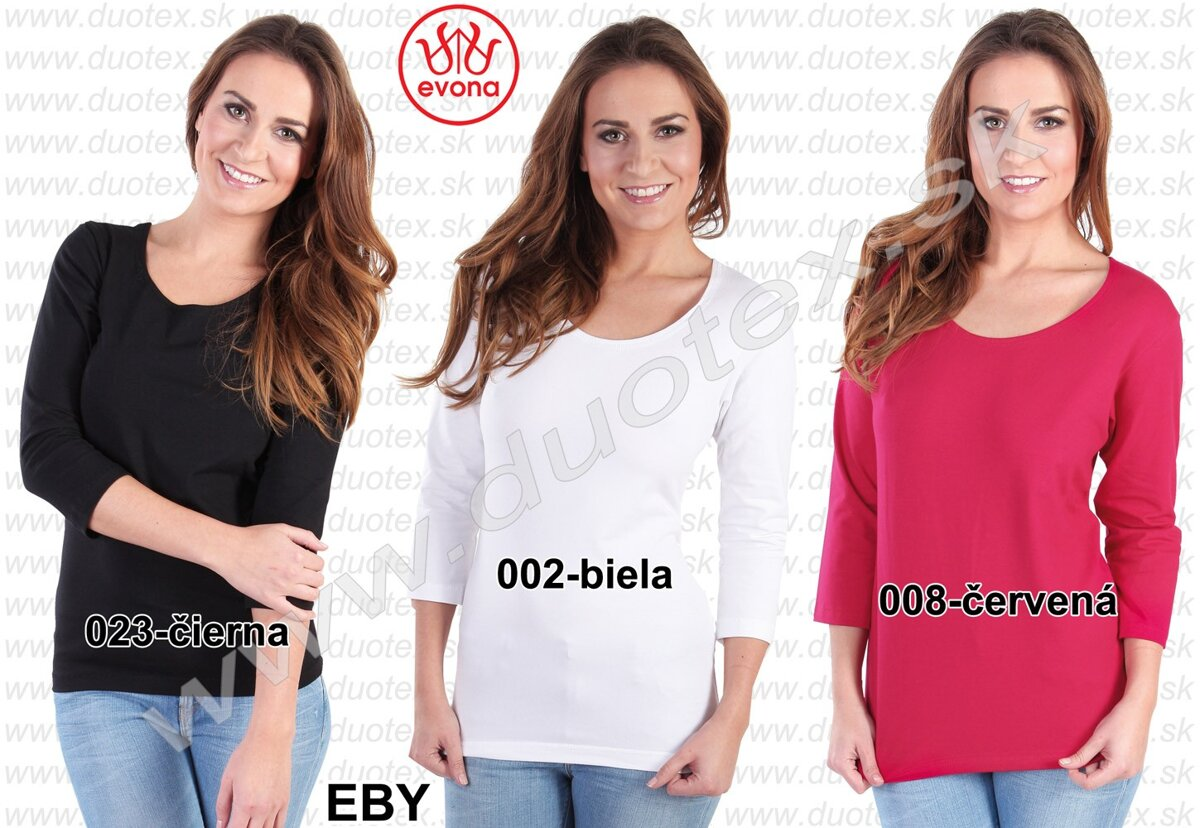 85f12d56654e Dámske tričko Evona s 3 4 rukávom Eby