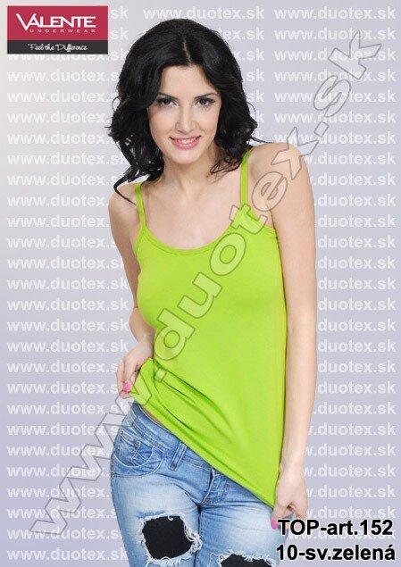 d1f45ddf9 Valente dámske tričko na ramienka / tielko Top-art.V152 svetlo zelené